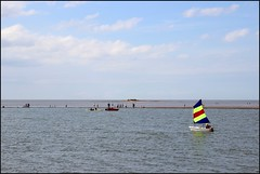 West Kirby Wirral  230816 (31) (over 4 million views thank you) Tags: westkirby wirral lizcallan lizcallanphotography sea seaside beach sand sandy boats water islands people ben bordercollie dog beaches reflections canoes rocks causeway yachts outside landscape seascape