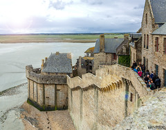 Mont St Michel (William MacGregor) Tags: montstmichel mont stmichel michel montsaintmichel architecture old oldbuildings historic france french europe european outdoor damncool macgregorwilliam yourbestoftoday canon dslr eos 50d 5d scenic clouds sky beach water ngc