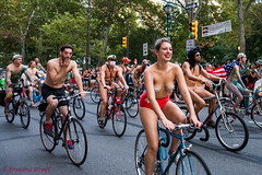 Philadelphia Naked Bike Ride (unveiledstreet) Tags: allrightsreserved candid copyright2016 pnbr philadelphia philly phillynakedbikeride photography ride rittenhouse rittenhousesquare bicycle bike naked street pasties tits breast female woman girl smile smiling pretty