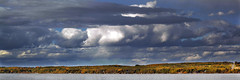 Fall Sky (Boreal Impressions) Tags: fall weather sky clouds darksly greysky stormy lake landscape park prairiesky prairie landscapephotography forest deciduousforest water cloudy fallsky