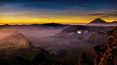 One volcano, Two Volcano, Three Volcano, Four! (Drouyn) Tags: volcano rx100 sony indonesia java travel nature sunrise crater