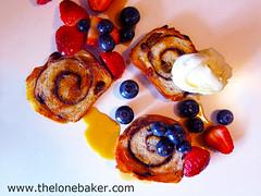 Cinnamon Raisin Loaf : Rose's Bread Bible bake (The Lone Baker) Tags: bread roselevyberanbaum bake cinnamonraisonloaf swirl red blue berries