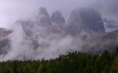 Mist on Sassolungo Group _MG_9014m(2) (maxo1965) Tags: sassolungo mist trentinoaltoadige valgardena dolomites