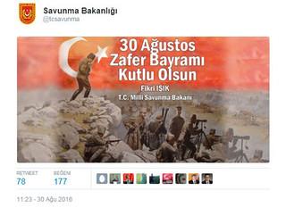 Milli Savunma Bakanlığı Twitter'da ilk kez mesaj paylaştı