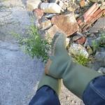 22 -- Hevea Acifort wellies with yellow sole -- Bottes Hevea acifort avec semelle jaune -- Acifort Gummistiefel thumbnail