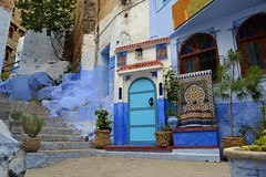 Blue door (latifalaamri) Tags: door house blue chaouen chefchaouen architecture zellij city urban morocco