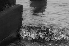 Shoreline (simon.pointer) Tags: wood groins seaside coast water blackwhite sea