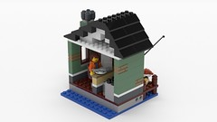 Caf on the sea (BrickJonas) Tags: lego rebrick moc render fishing sea caf coffee creator competition