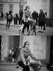 [La Mia Citt][Pedala] con il BikeMi (Urca) Tags: milano italia 2016 bicicletta pedalare ciclista ritrattostradale portrait dittico bike bicycle nikondigitale mir biancoenero blackandwhite bn bw nn 89159 bikemi bikesharing