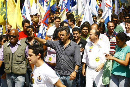 Aécio Neves - Campanha - Varginha - 22/09/2010