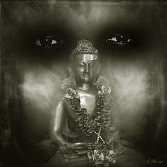 In the light of shadow (Mara ~earth light~) Tags: light shadow texture composition photoshop buddha magic intuition soulscapes creatvecommons mara~earthlight~