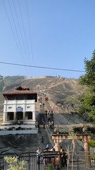 Shravanbelagola - Vindhyagiri hill with temple complex of Lord Gomateshwara or Bahubali at the top