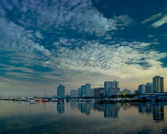 DSC_3009 (TheHouseKeeper) Tags: sea sky skyline architecture clouds buildings reflections bay philippines shore manila mateo manilabay pilipinas roxasboulevard thehousekeeper georgemateo