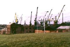 Tyne shipbuilding (davewebster14) Tags: tyne cranes shipyard 1980s tyneside jarrow hebburn rivertyne shipbuilding shipbuilders hawthornleslie