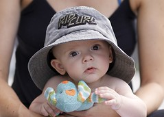 """What do you mean """"Space Balls"""" ? (adampop) Tags: people baby cute beautiful hat canon toy funny soft rip son curl 5dmkii"""