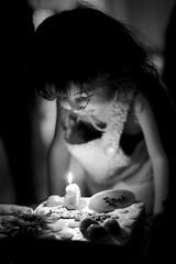Emma at 24 Months (Explored) (Jake in Japan) Tags: birthday portrait bw nikon daughter explore nikkor fx flickrexplore explored 50mmf14g black d700 afsnikkor50mmf14g whitemonochromecandlecakegettyimagesjapan13q1exploreexploredflickr jakejung