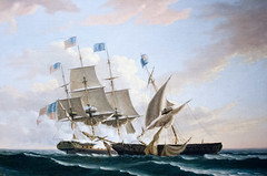 CU455 Battle at Sea (listentoreason) Tags: usa art philadelphia museum america canon painting unitedstates pennsylvania favorites places pennslanding ef28135mmf3556isusm score30 independenceseaportmuseum philadelphiamaritimemuseum