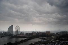 04_YokohamaDrama (dgtl1) Tags: rain japan yokohama stormyweather cosmoclock