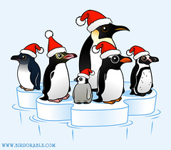 Santa Penguins (birdorable) Tags: christmas holiday cute ice festive penguin funny floe birdorable
