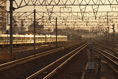 JR Kobe Line (Takashi K. A) Tags: morning light station train track platform jr osaka amagasaki tokaido japanrailway nishinihon kobeline westjapan