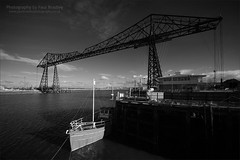 Transporter wide view (ScudMonkey) Tags: bw heritage monochrome canon sigma northumbria middlesbrough 1920 uwa rivertees teestransporterbridge paulbradley 5dmkii 1224mmf45exdg c2013paulbradley