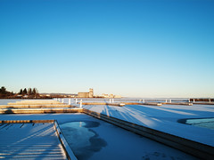 Thunder Bay Waterfront (creditflats) Tags: blue winter sky lake snow ontario cold ice port bay frozen dock waterfront north grain terminal clear lakesuperior thunder
