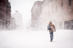 Into the White (Corey Templeton) Tags: winter people snow storm cold weather walking portland other nemo maine snowstorm newengland pedestrian portlandmaine february blizzard whiteout congressstreet congresssquare 2013