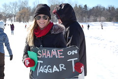Winterlude Protest - Shame on Taggarts!
