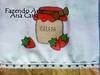 pano de prato geleia de morango (Ana Carla_Fazendo Arte) Tags: flores frutas galinha cupcake patchwork cozinha