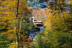 Fallingwater in Autumn (Andrew Rhodes Photography) Tags: mill architecture frank waterfall pennsylvania run franklloydwright lloyd wright fallingwater