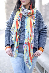 The cartoon scarf (Laura Comolli (Purses&I)) Tags: orange fashion cat outfit cartoon easy cosy cooee gazel macram cruciani salylimon cooeedesign muffinonline kikithesweetycat ibirikini lancioni1973