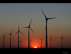 Balance in the north (Just me, Aline) Tags: light sunset holland netherlands windmill licht zonsondergang nederland windmills balance groningen d800 windmolen windmolens eemshaven energieopdoen aneveninglastsummerwithjeeeweee