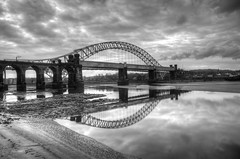 Road and Railway Bridges (Jeffpmcdonald) Tags: uk river cheshire runcorn widnes rivermersey silverjubileebridge britanniabridge heartawards platinumheartaward nikond7000 jeffpmcdonald mygearandme mygearandmepremium mygearandmebronze mygearandmesilver mygearandmegold mygearandmeplatinum mygearandmediamond ringexcellence dblringexcellence tplringexcellence ethelfledabridge flickrstruereflection1 flickrstruereflection2 flickrstruereflection3 flickrstruereflection4 rememberthatmoment1 rememberthatmomentlevel4 rememberthatmomentlevel1 feb2013 rememberthatmomentlevel2 rememberthatmomentlevel3 rememberthatmoment2 rememberthatmomentlevet3