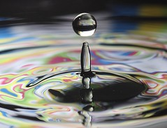 Multi coloured drop & spike (Colin P2009) Tags: colour water eos droplets 60d me2youphotographylevel2 me2youphotographylevel3 me2youphotographylevel4