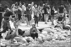 Tourists at Lake Louise (greenthumb_38) Tags: canada reunion rockies canadian tourists lakeside alberta lakelouise 2012 canadianrockies jeffreybass august2012 moseankoreunion