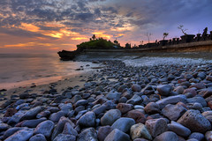 Mengening Stones (Pandu Adnyana (thanks for 100K views)) Tags: sunset bali beach rock stone indonesia temple wave cemagi mengening