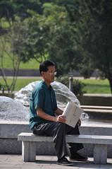 Reading in the Park (dan & emily) Tags: north korea northkorea pyongyang koryo