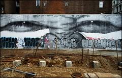 JR in Soho, NYC (john fullard) Tags: street city nyc urban newyork art wall graffiti eyes artist manhattan soho jr