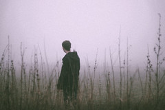 (marcin niedzialek) Tags: boy portrait field grass fog project grey day sad foggy rainy 52 washedout