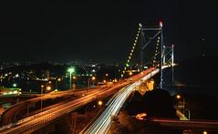 Kanmonkyou-Bridge (Yohsuke_NIKON_Japan) Tags: longexposure bridge car japan architecture night 35mm nikon highway clear nightview kyusyu       kanmonkyo d3100 kanmonnarrow