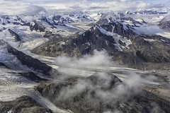 Wrangell-St. Elias National Park (Patrick Gregerson) Tags: snow mountains alaska clouds rocks august glacier wilderness peaks 2009 mccarthy overflight morain wranglessteliasnationalparkandpreserve