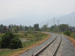Kampot, looking towards Sihanoukville (Barang Shkoot) Tags: cambodge cambodia southeastasia railway indochina gleis chemindefer permanentway railties rotfai perway metregauge pandrol concretesleeper cambodiamarch2013 asianrails