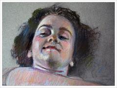 "Cabeza de modelo. (Detalle) (""GALBA"") Tags: color retrato pastel modelo cabeza papel fotografia dibujo pintura galba 2013 gonzlezalba"