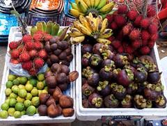 Tropical Fruits @ Bali (stardex) Tags: bali fruit indonesia market banana ubud rambutan mangosteen tropicalfruit stardex