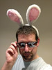 Remember To Use Positive Affirmations. I Am Not A Dork Is Not One Of Them (Kaptain Kobold) Tags: pink shadow white selfportrait sunglasses alan ears armslength bunnyears wh selfie storypeople kaptainkobold yourfave yoursave
