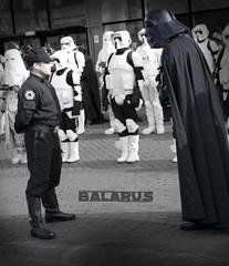 Darth Vader (Balarus) Tags: for star starwars birmingham comic expo report duty darth stormtrooper wars vader con mcm reporting