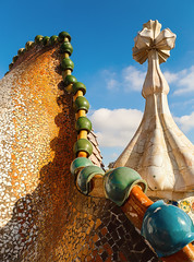 The roof of Casa Batll (jensvins) Tags: barcelona architecture spain catalonia gaudi gaud casabatll antonigaudi