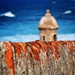 Garita (wegstudio) Tags: sky square oldsanjuan puertorico sanjuan squareformat pr fortress viejosanjuan elmorro garita sentrybox castillosanfelipedelmorro iphoneography mygearandme instagram instagramapp