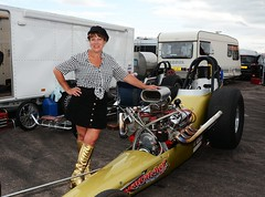 Ruth_7104 (Fast an' Bulbous) Tags: girl woman mature milf hot sexy chick babe drag dragster race car vehicle automobile fast speed power santa pod skirt boots people outdoor nikon motorsport d7100 gimp