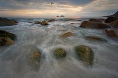 3 rocks (T_J_P) Tags: cornwall cornish porthnanven beach tide rocks coast colours sunset sea seascape ocean brisons
